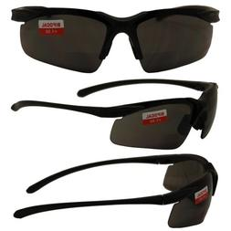 Apex Bifocal Safety Glasses with 1.5x Magnifying Smoke Lense