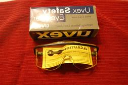 Uvex Astro OTG 3001 Black Frame Amber Lens Safety Glasses