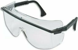 Astro OTG 3001 Wraparound Safety Glasses  Black Plastic Fram