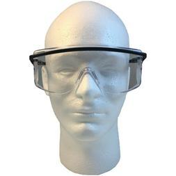 Uvex Astro OTG Safety Glasses Black Frame with Clear Lens