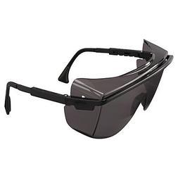 Uvex Astro S2504 OTG 3001 Safety Glasses Black Frame/Grey Le