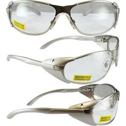 AVIS SUPRA SAFETY GLASSES SIDE SHIELDS GUN METAL SILVER FRAM