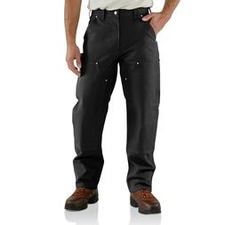 CARHARTT B01 BLK 38 30 Double Front Work Pants, Black, Size