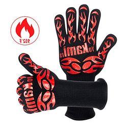 Yokamira BBQ Grill Oven Gloves, 932 °F/500°C Heat Resistan
