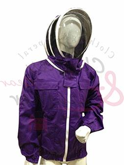 Massive Beekeeping Supply Beekeeping Jacket Purple with Fenc