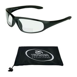 Bifocal Glasses Clear Safety Z87 Full Frame 1.50, 2.00, 2.50