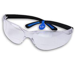 FastCap Bifocal Safety Glasses, +2.0
