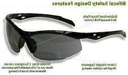 Bifocal Safety Glasses SB-9000 PS Smoke, 1.50