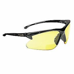 KLEENGUARD Bifocal Safety Read Glasses,+1.50,Amber, 19893