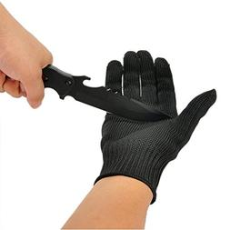 Lightingsky Black Cut Resistant Gloves Stainless Steel Wire