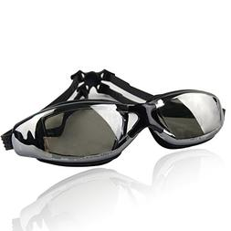 Pro Swim Goggles | Black | Super Comfortable Shatterproof Wa