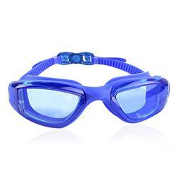 Pro Swim Goggles   Blue   Super Comfortable Shatterproof Wat