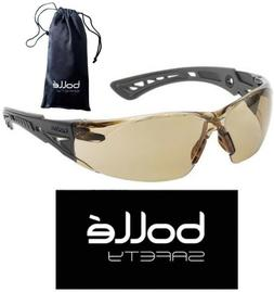 Bolle 40225 Rush+ Plus Safety Glasses Black/Gray Temples Twi