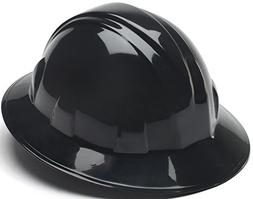 Pyramex Full Brim Style 4 Point Ratchet Suspension Hard Hat,