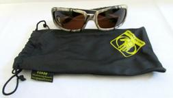 BODY GLOVE Brown Camo Safety Sunglasses 90409 Full Frame Scr