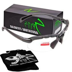 C2 Top Focal/Bottom Bifocal Safety Glasses in Gray Frame