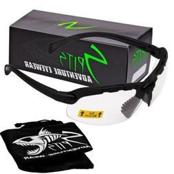 C2 Top Focal OR Bottom Bifocal Safety Glasses, Black Frame,