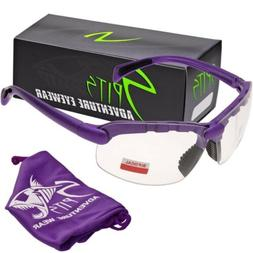 C2 Top Focal OR Bottom Bifocal Safety Glasses, Purple Frame,