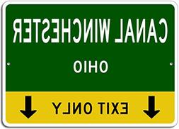 CANAL WINCHESTER, OHIO This Exit Only - Custom Aluminum US C