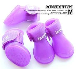 XyindiaCandy Color padded pet shoes non-slip boots shoes dog