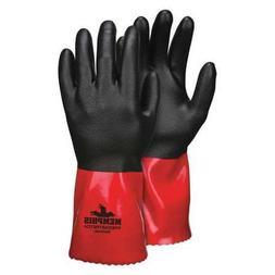 "Chemical Resistant Gloves, Nitrile, XL, 12""L, Nylon, 12 pk."