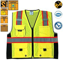 KwikSafety Class 2 Executive Deluxe Safari Safety Vest | Con