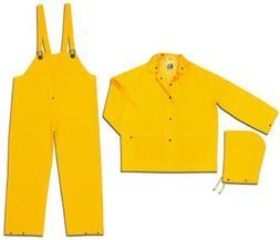 MCR Safety 2003X2 Classic PVC/Polyester 3-Piece Rainsuit wit