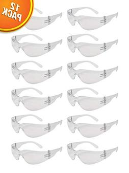 Clear Frame Safety Glasses, One Size, Anti-Scratch, Impact R
