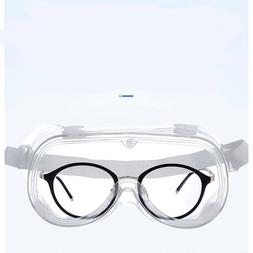 Clear Medical Safety Goggles Over Glasses Lab Work Eye Wear
