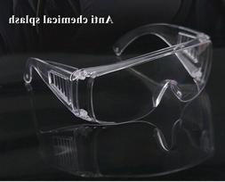 Clear Safety Goggles Glasses Anti Fog Lens Work Lab Protecti