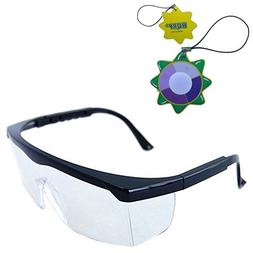 HQRP Clear Tint UV Protective Safety Glasses / Goggles for L