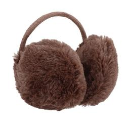 Coffee Color Metal Frame Fluffy Ear Cover Back Earmuffs for