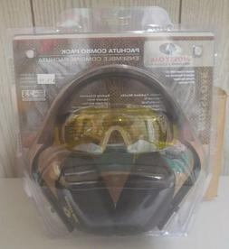 combo shooting hearing protection ear muffs yellow safety gl