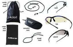 Bolle Contour wraparound safety glasses / specs & FREE micro