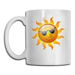 Baerg Cool Sun Man With Sunglass White Beautiful Mug Working