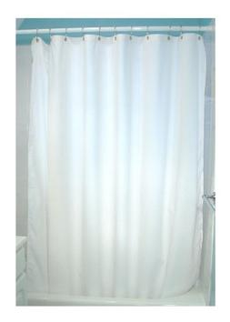 Bean Products White Cotton Shower Curtain 7 oz. Duck Fabric