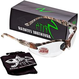 Spits Cougar BIFOCAL Safety Glasses - Forest Camo - 2.00 Mag
