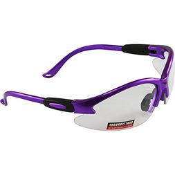 Global Vision Cougar Purple Frame Safety Glasses Clear Lens