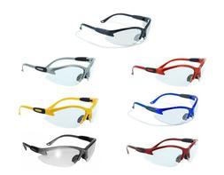 Global Vision Cougar Safety Glasses - Clear Lenses - ANSI Z8