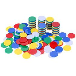 Willbond 200 Pieces Counters Counting Chips Plastic Markers