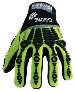 Cut Resistant Gloves, Green/Black, L, PR