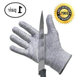 Cut Resistant Gloves - Best Food Grade Kitchen Level 5 Cut P