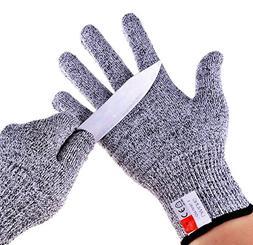 LARGE NoCry Cut Resistant Gloves High Performance Level 5 Pr