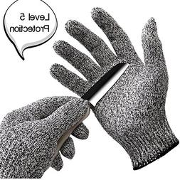 WISLIFE Cut Resistant Gloves Level 5 Protection Food Grade E