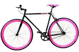 Golden Cycles Fixed Gear Bike Steel Frame with Deep V Rims-C