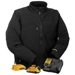 DEWALT DCHJ060ABD1-L Heated Soft Shell Jacket, L, Black