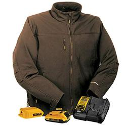DEWALT DCHJ060ATD1-L Heated Soft Shell Jacket, L, Tobacco