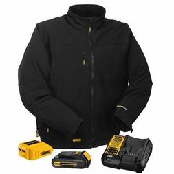 DEWALT DCHJ060C1-L 20V/12V MAX Black Heated Jacket Kit, Larg