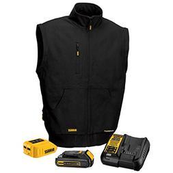 DEWALT DCHJ065C1-L 20V/12V MAX Heated Vest Kit, Black, Large