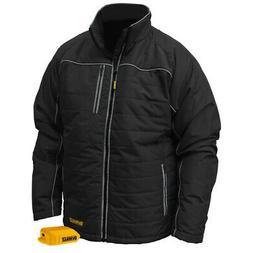 DeWalt DCHJ075B-L 20V MAX Black Mens Quilted/Heated Jacket L